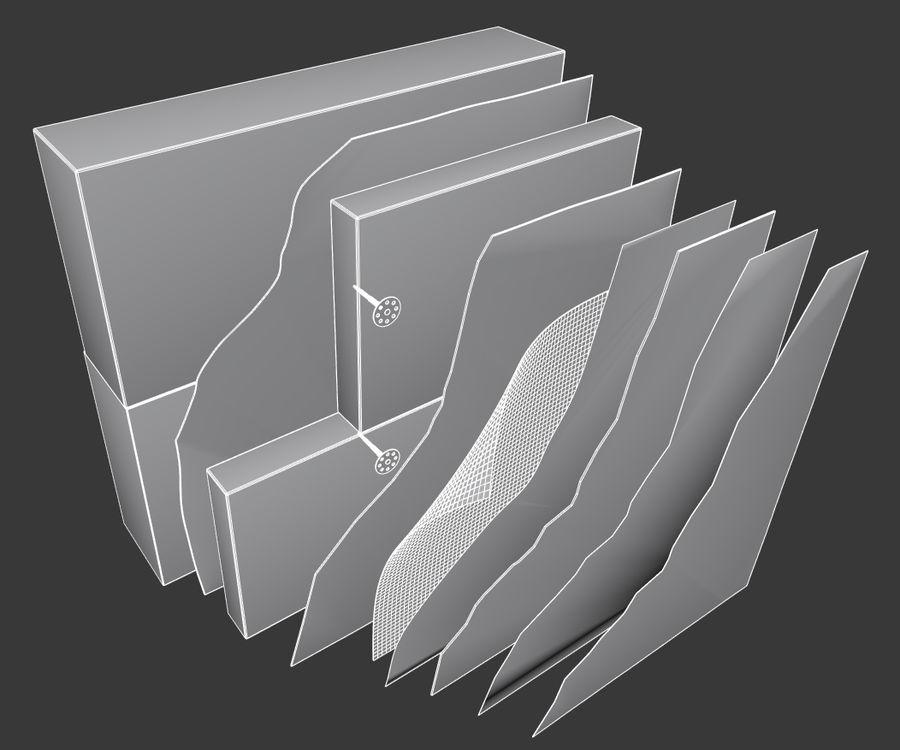 Brick wall royalty-free 3d model - Preview no. 7
