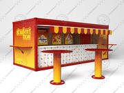 Container Box Cafe 3d model