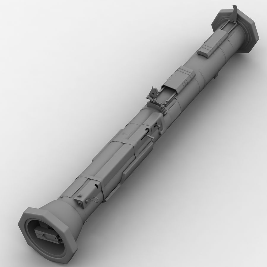 AT4 anti tank Grenade launcher royalty-free 3d model - Preview no. 12