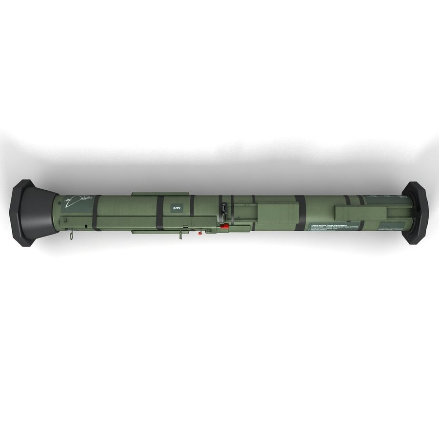 AT4 anti tank Grenade launcher royalty-free 3d model - Preview no. 8