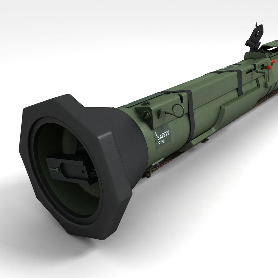 AT4 anti tank Grenade launcher royalty-free 3d model - Preview no. 2