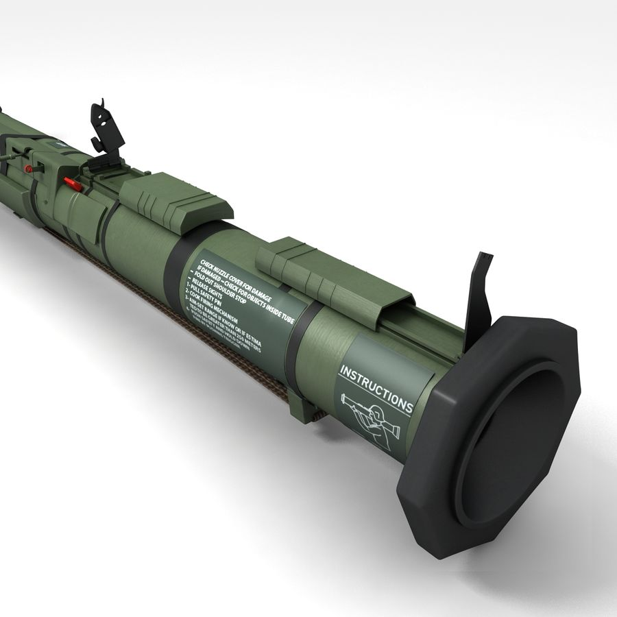 AT4 anti tank Grenade launcher royalty-free 3d model - Preview no. 4
