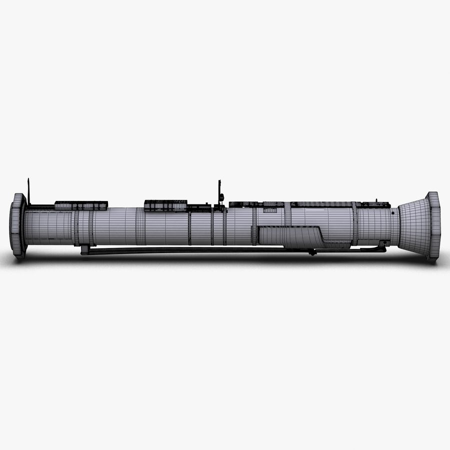 AT4 anti tank Grenade launcher royalty-free 3d model - Preview no. 27