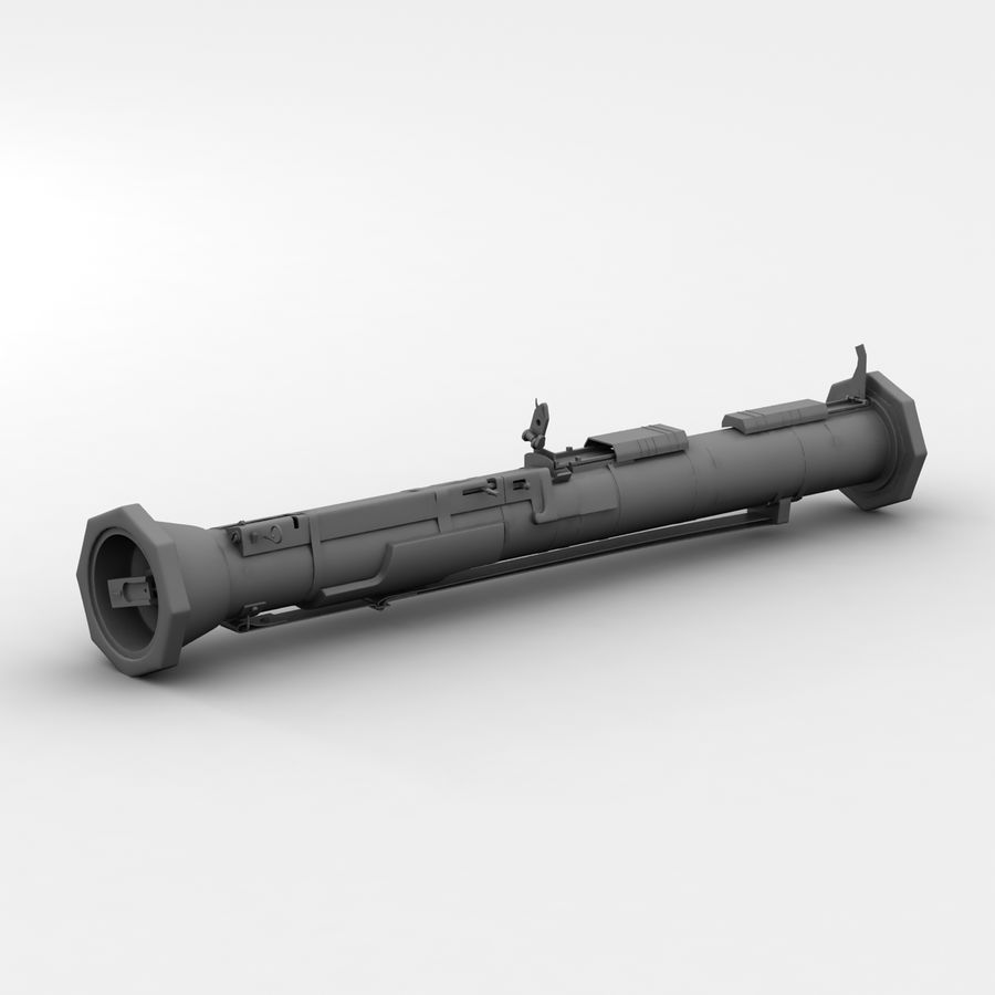 AT4 anti tank Grenade launcher royalty-free 3d model - Preview no. 9