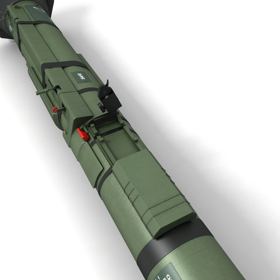 AT4 anti tank Grenade launcher royalty-free 3d model - Preview no. 5