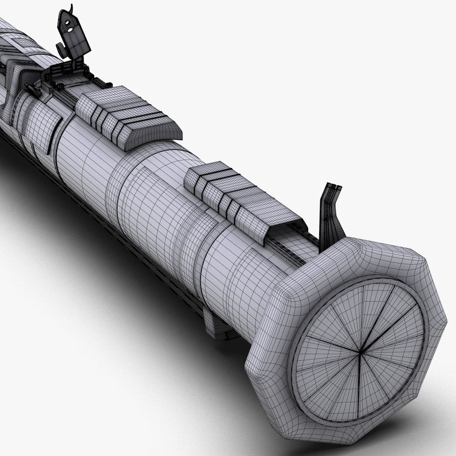 AT4 anti tank Grenade launcher royalty-free 3d model - Preview no. 24