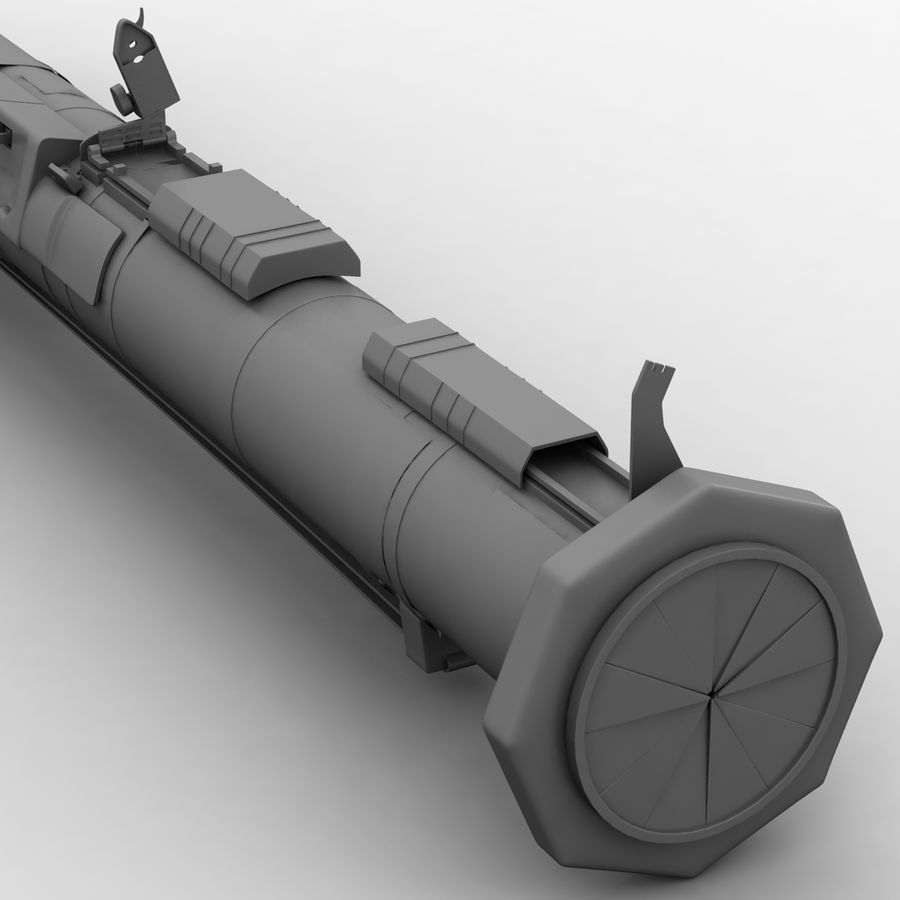 AT4 anti tank Grenade launcher royalty-free 3d model - Preview no. 14