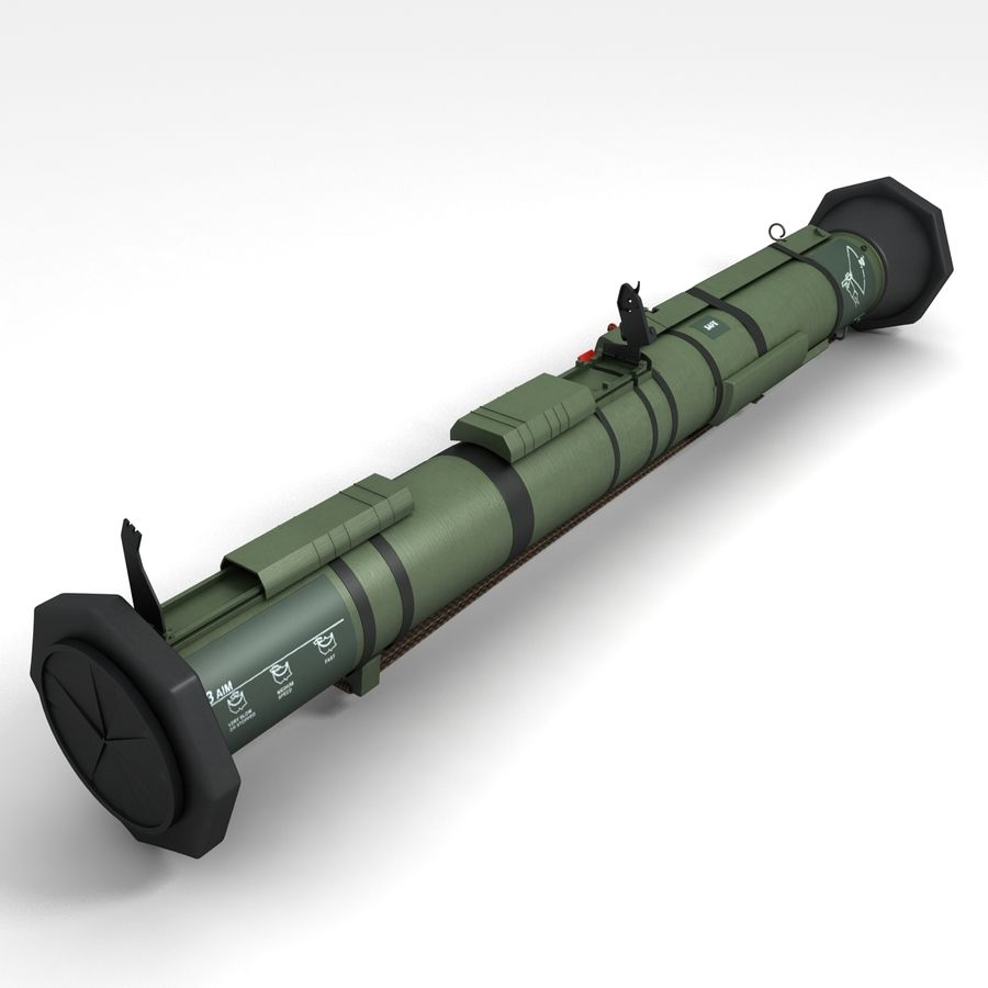 AT4 anti tank Grenade launcher royalty-free 3d model - Preview no. 6