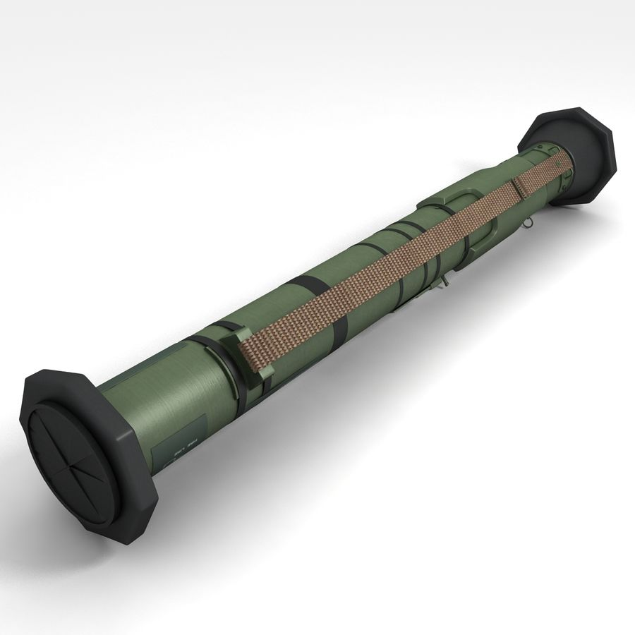 AT4 anti tank Grenade launcher royalty-free 3d model - Preview no. 7