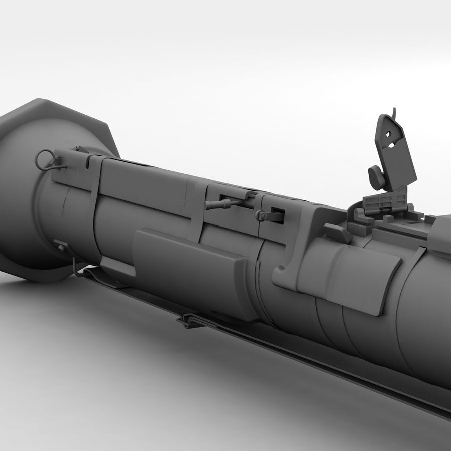 AT4 anti tank Grenade launcher royalty-free 3d model - Preview no. 15