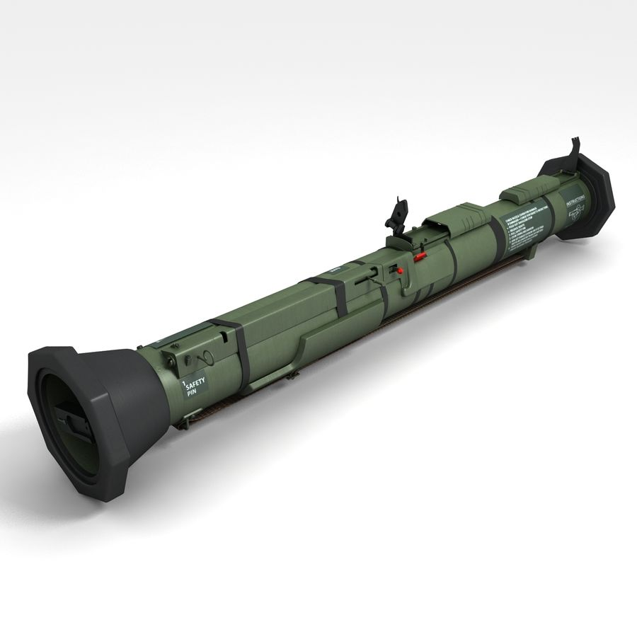 AT4 anti tank Grenade launcher royalty-free 3d model - Preview no. 1