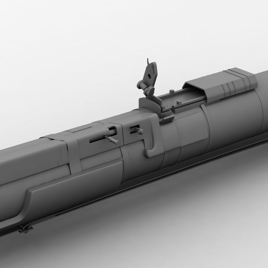 AT4 anti tank Grenade launcher royalty-free 3d model - Preview no. 11