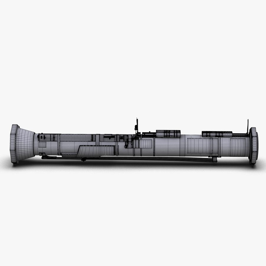 AT4 anti tank Grenade launcher royalty-free 3d model - Preview no. 26
