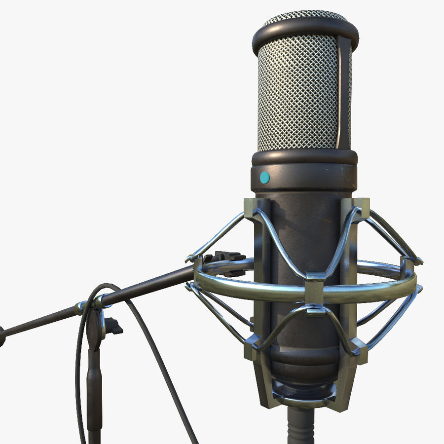 Microfono royalty-free 3d model - Preview no. 1