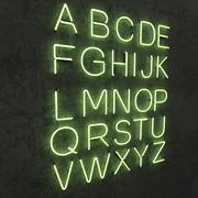 네온 알파벳 대문자 3d model