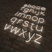 Neon letters lower case 3d model