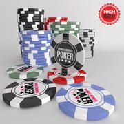 Poker fişleri Jetons 3d model
