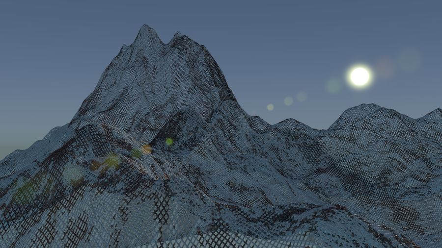 Snowy Mountain royalty-free 3d model - Preview no. 4