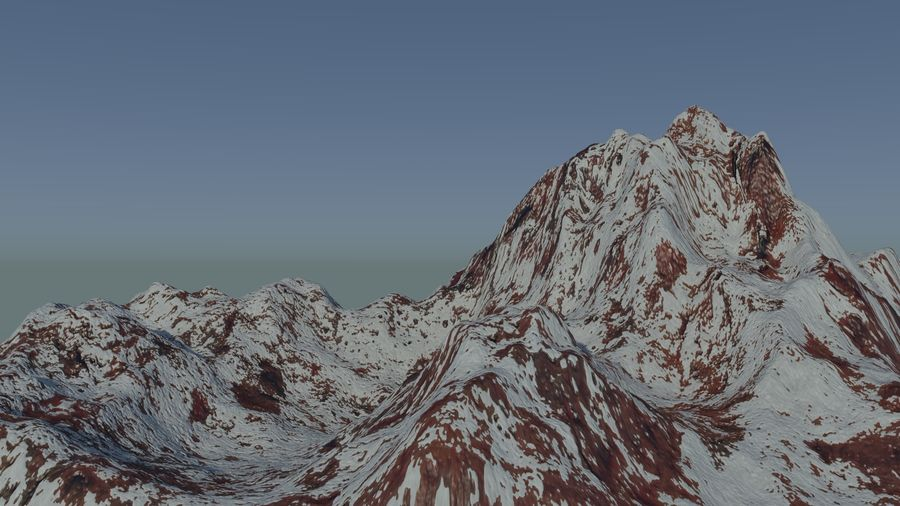 Snowy Mountain royalty-free 3d model - Preview no. 3