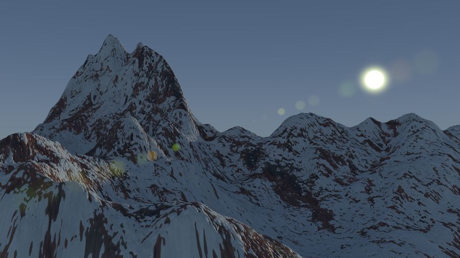 Snowy Mountain royalty-free 3d model - Preview no. 1