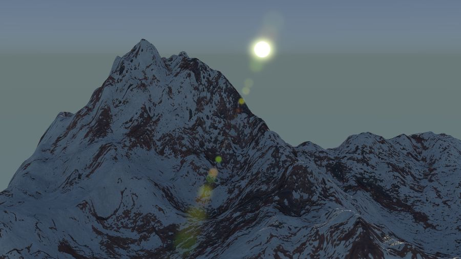 Snowy Mountain royalty-free 3d model - Preview no. 2