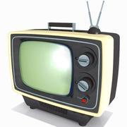 Televisão Vintage 3d model