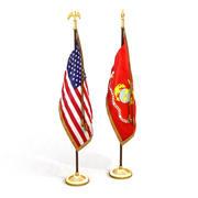 US Flag Pack 1 3d model