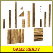 Kolekcja drewnianych desek 3d model