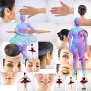 Ballerina reference & 3D 3d model