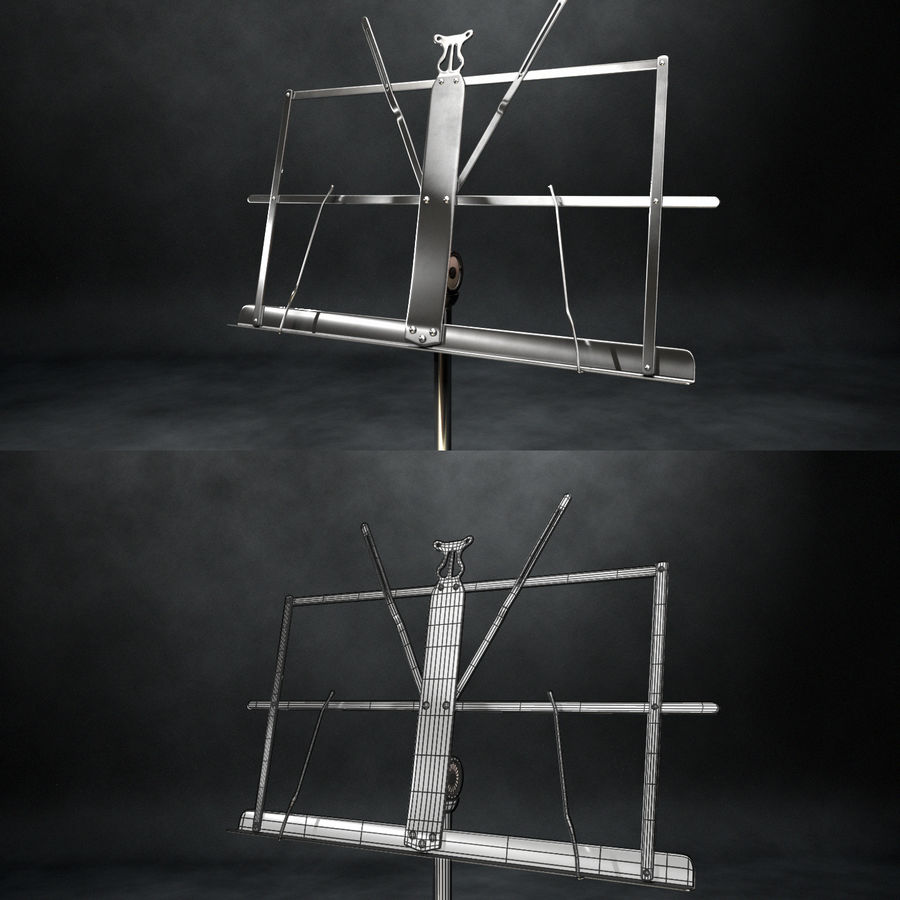 Music Stand royalty-free 3d model - Preview no. 6