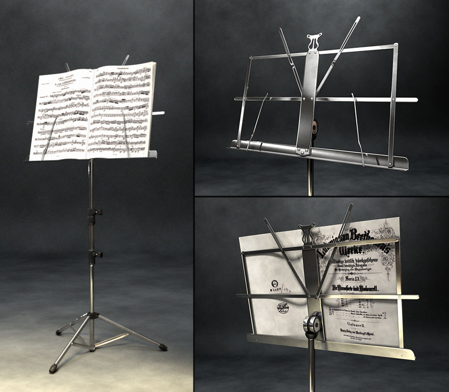 Music Stand royalty-free 3d model - Preview no. 1