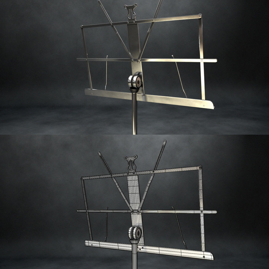 Music Stand royalty-free 3d model - Preview no. 5