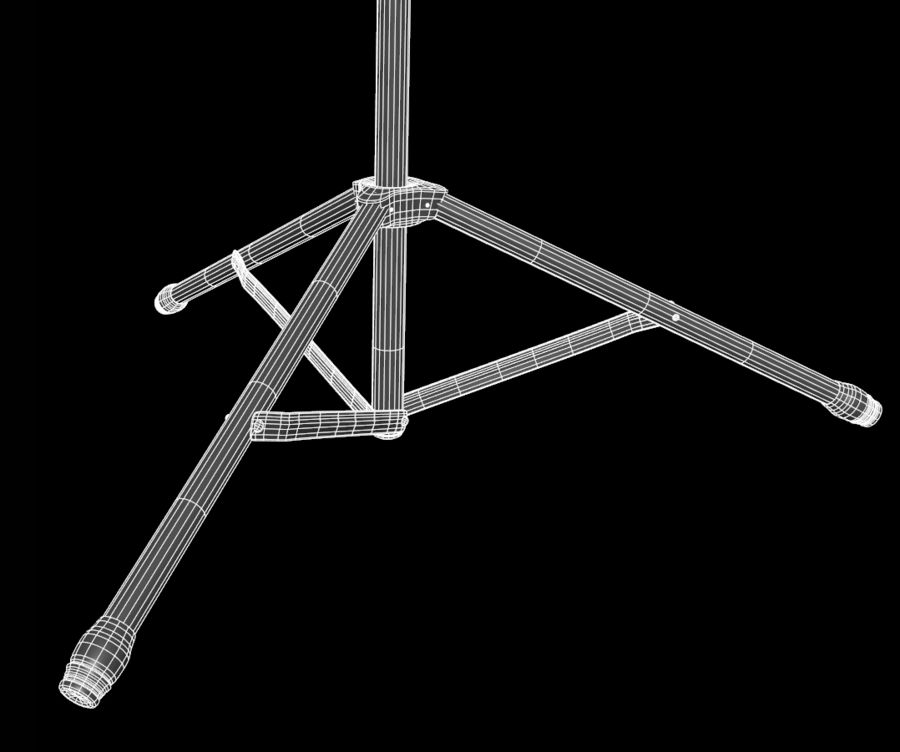 Music Stand royalty-free 3d model - Preview no. 8