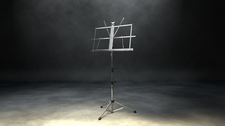 Music Stand royalty-free 3d model - Preview no. 7