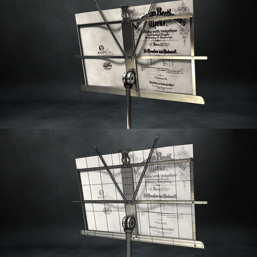 Music Stand royalty-free 3d model - Preview no. 3
