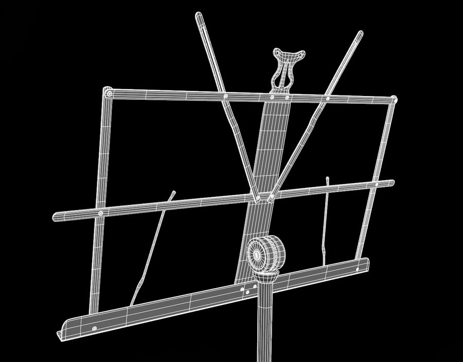 Music Stand royalty-free 3d model - Preview no. 9