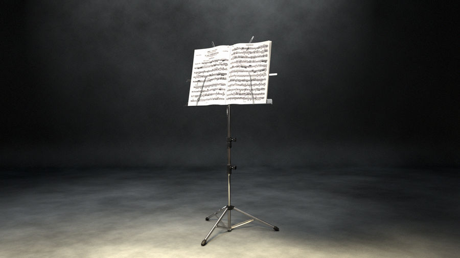 Music Stand royalty-free 3d model - Preview no. 4