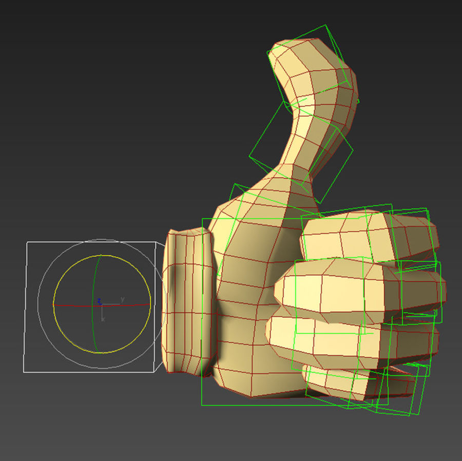 Cartoon Hand (Rigged) royalty-free 3d model - Preview no. 5