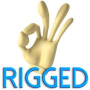 Cartoon Hand (Rigged) 3d model