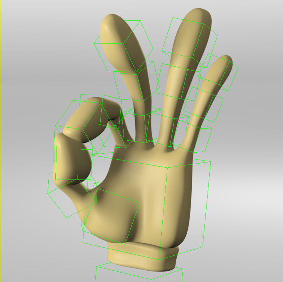 Cartoon Hand (Rigged) royalty-free 3d model - Preview no. 3