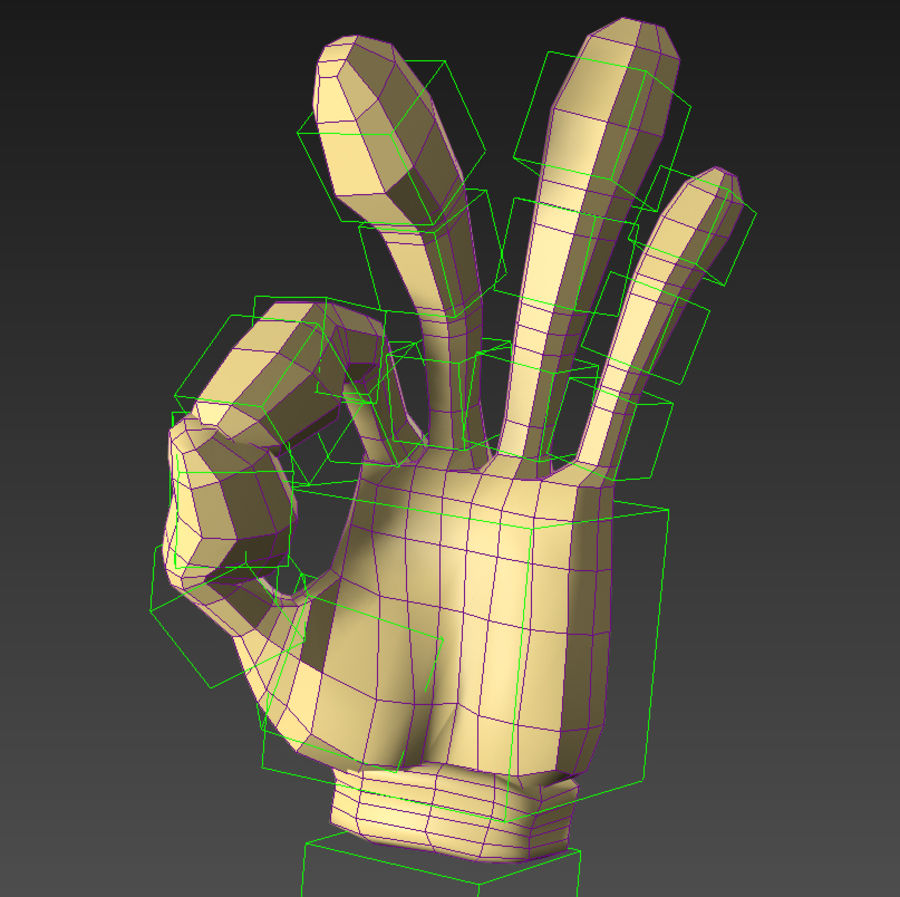 Cartoon Hand (Rigged) royalty-free 3d model - Preview no. 4