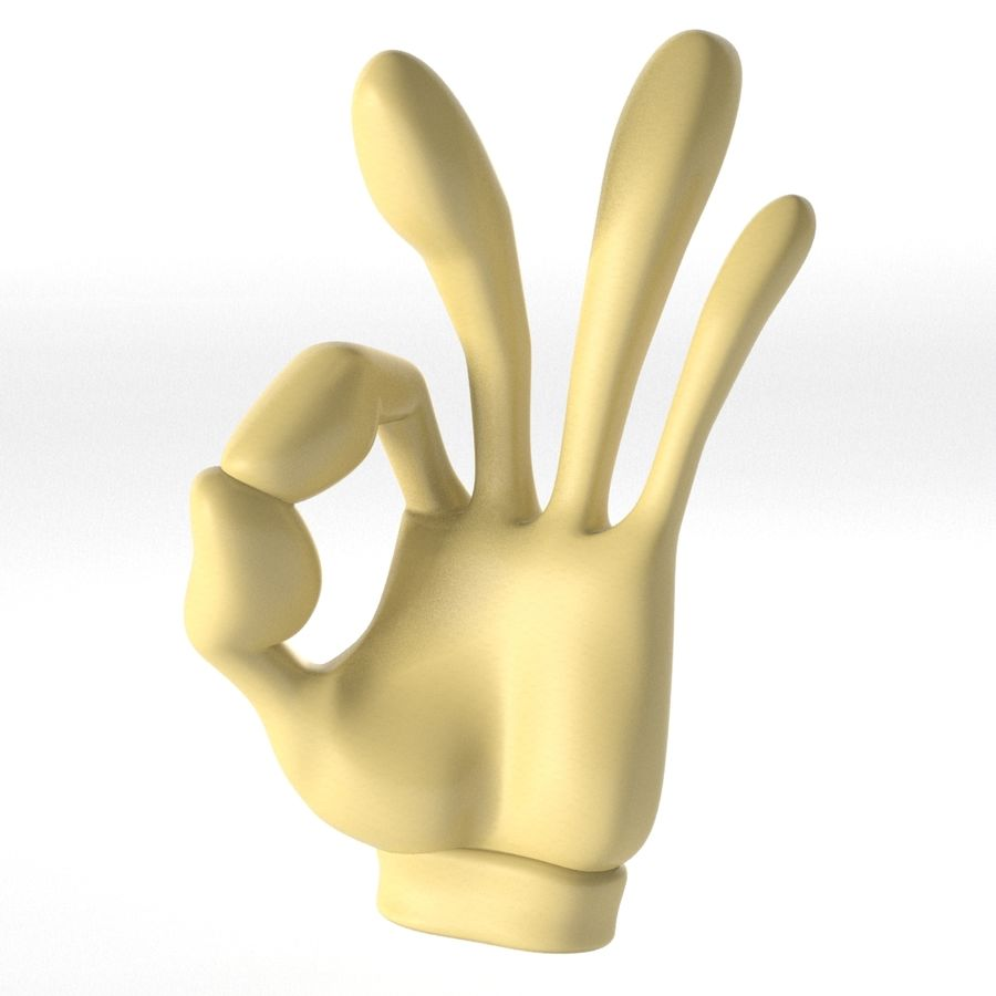 Cartoon Hand (Rigged) royalty-free 3d model - Preview no. 2