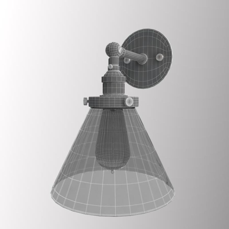 Lampa vintage royalty-free 3d model - Preview no. 11