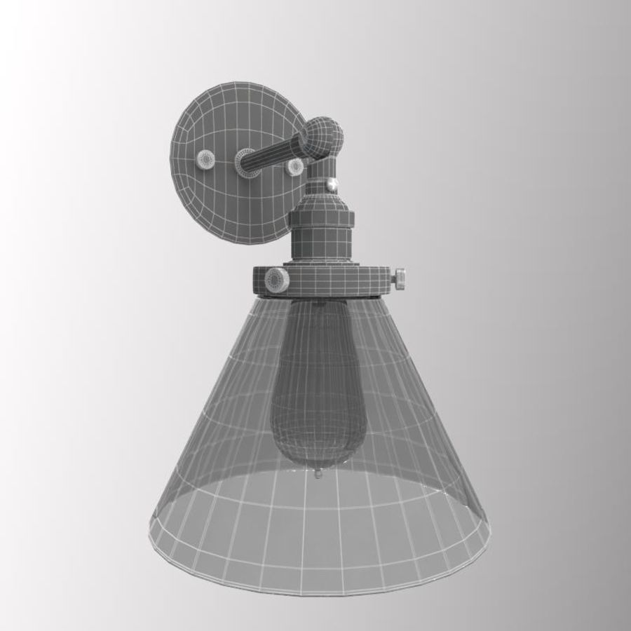 Lampa vintage royalty-free 3d model - Preview no. 8