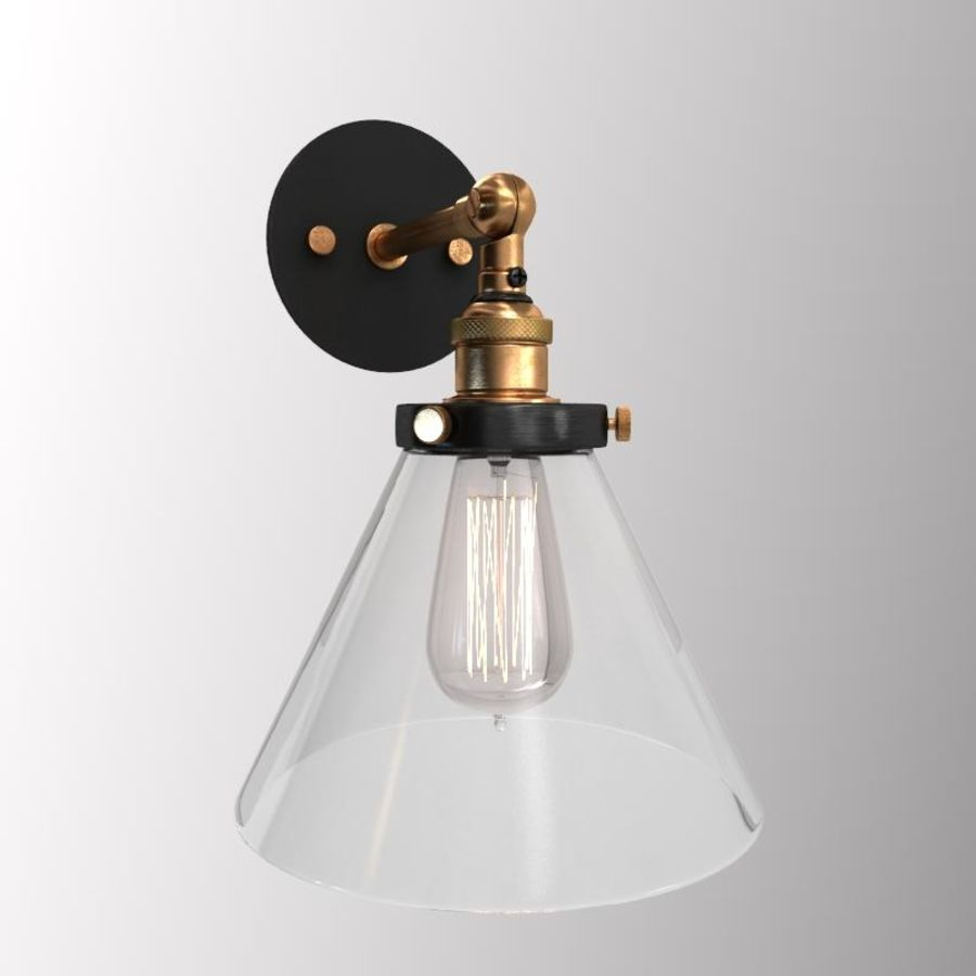Lampa vintage royalty-free 3d model - Preview no. 1
