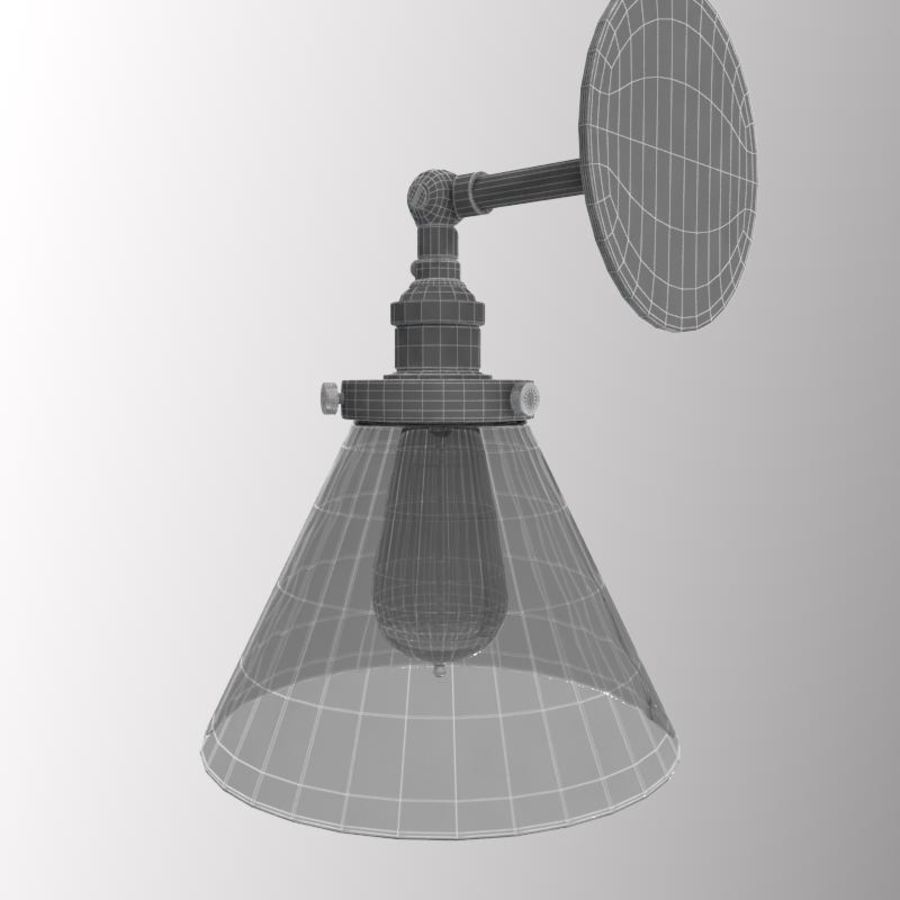 Lampa vintage royalty-free 3d model - Preview no. 10