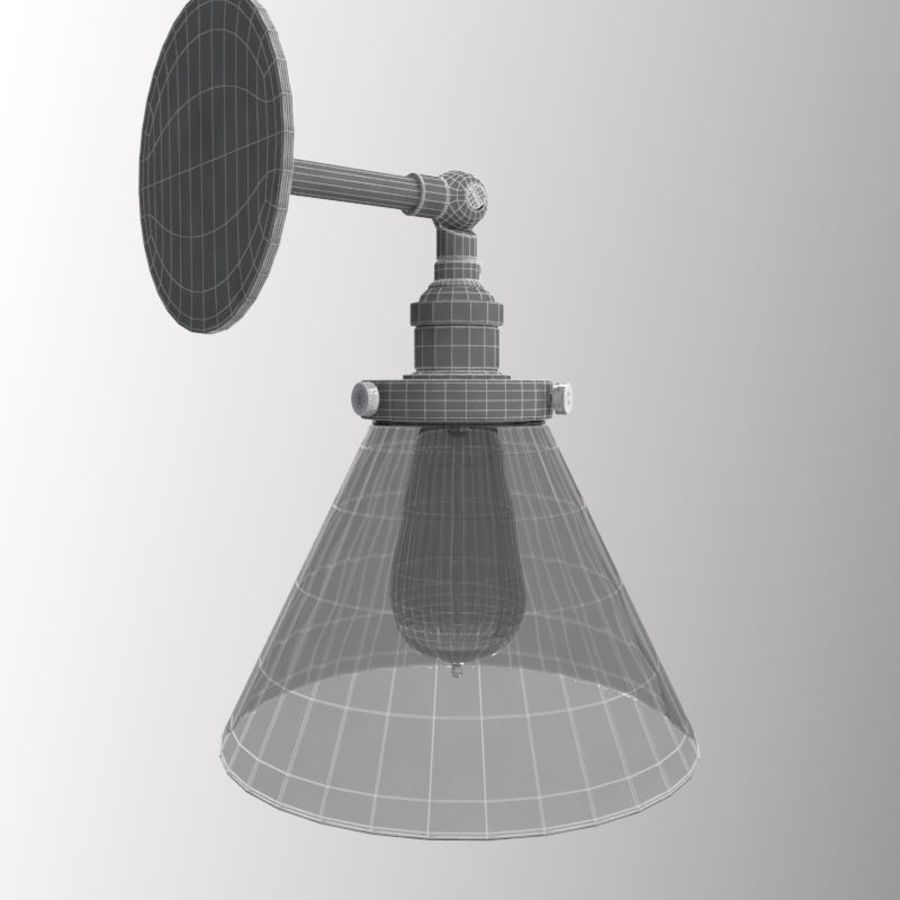 Lampa vintage royalty-free 3d model - Preview no. 9