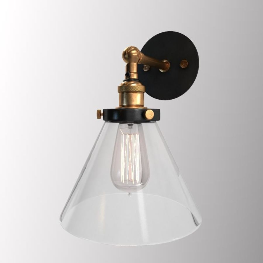 Lampa vintage royalty-free 3d model - Preview no. 5