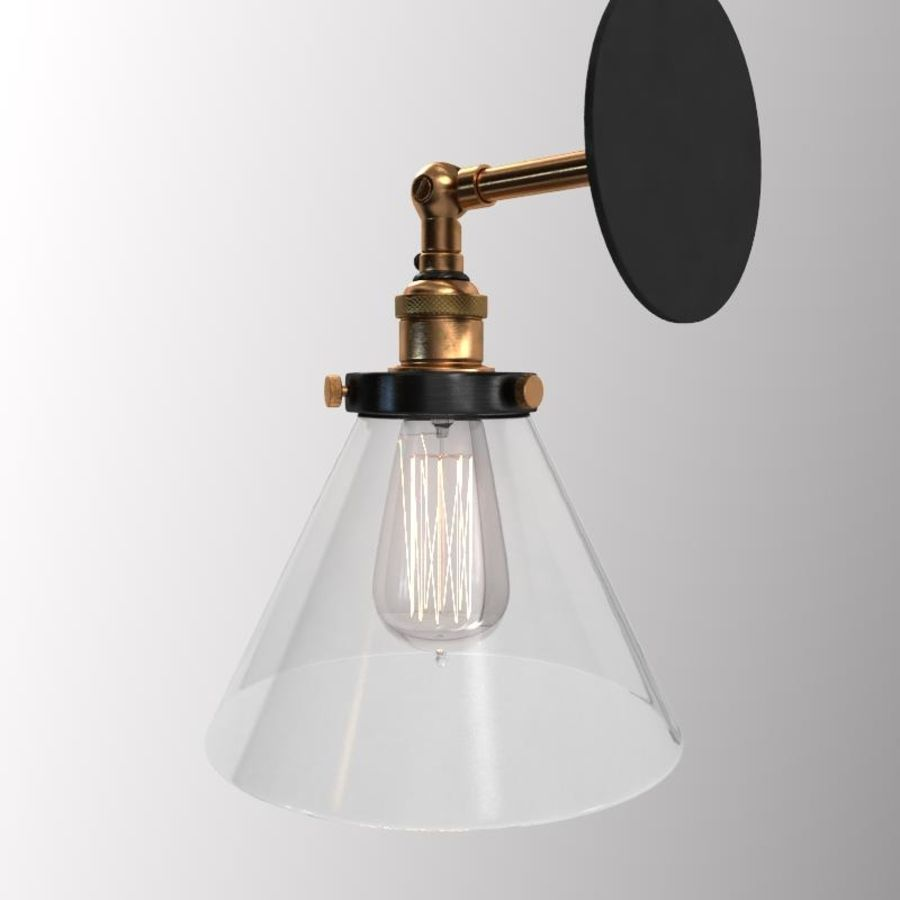 Lampa vintage royalty-free 3d model - Preview no. 7