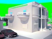 3d house model 3d model